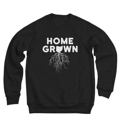 Home Grown Roots Ohio (White) Ultra Soft Sweatshirt - Clothe Ohio - Soft Ohio Shirts