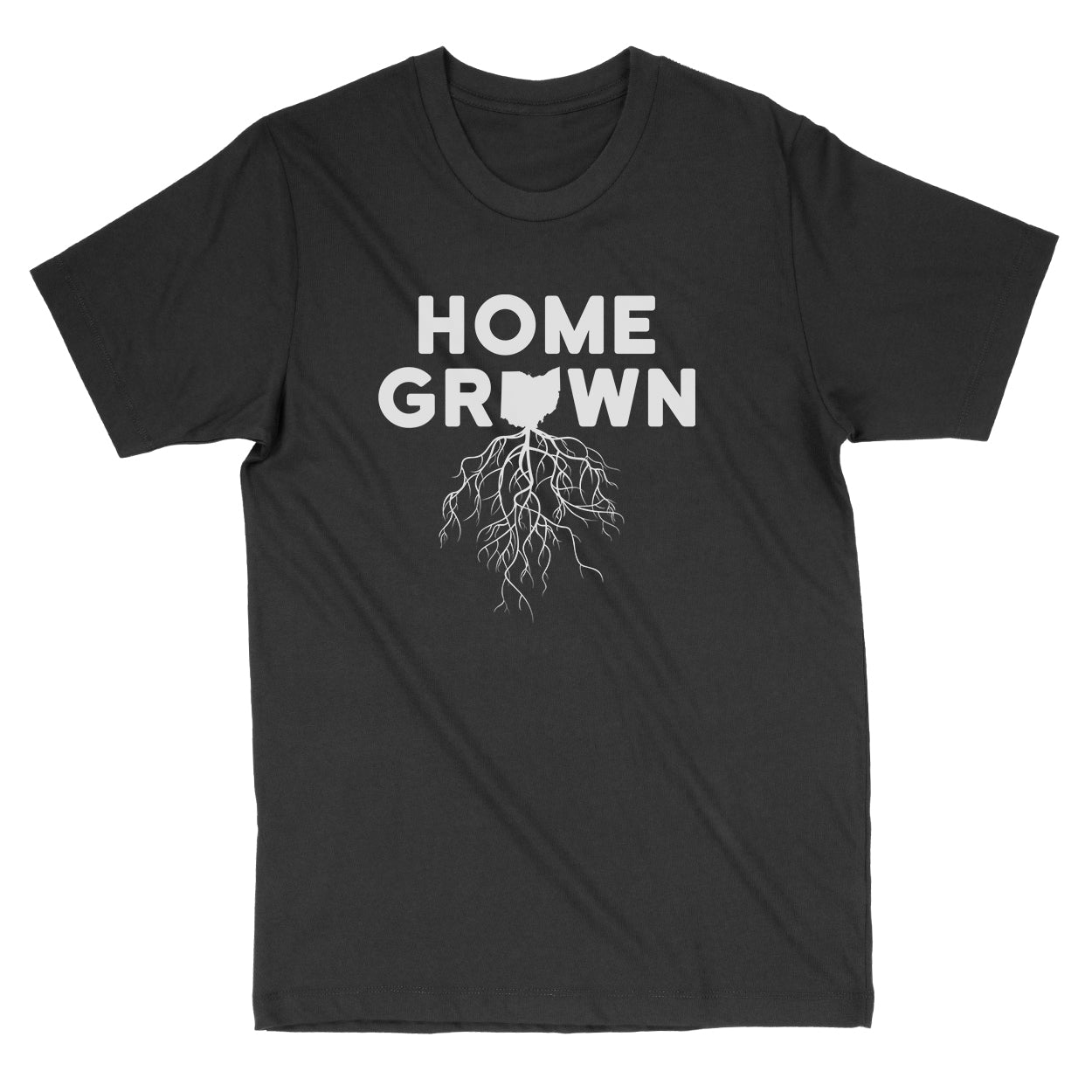 Home Grown Roots Ohio White Men's T-Shirt - Clothe Ohio - Soft Ohio Shirts