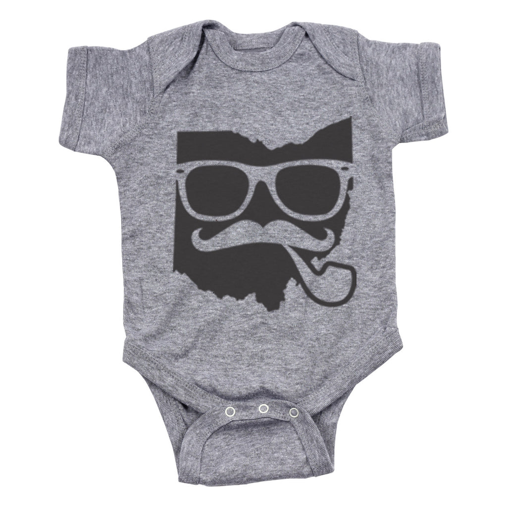 Hipster Ohio Pipe Baby One Piece - Clothe Ohio - Soft Ohio Shirts
