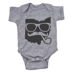 Hipster Ohio Pipe Baby One Piece