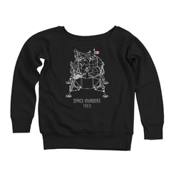 Space Invaders 1969 Women's Off-Shoulder Sweatshirt
