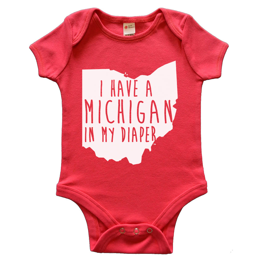I Have A Michigan In My Diaper Baby Baby One Piece - Clothe Ohio - Soft Ohio Shirts