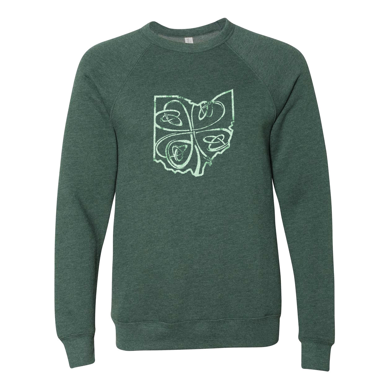 Ohio Shamrock Ultra Soft Sweatshirt - Clothe Ohio - Soft Ohio Shirts