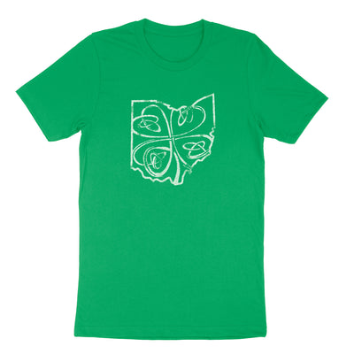 Ohio Shamrock Men's T-shirt - Clothe Ohio - Soft Ohio Shirts