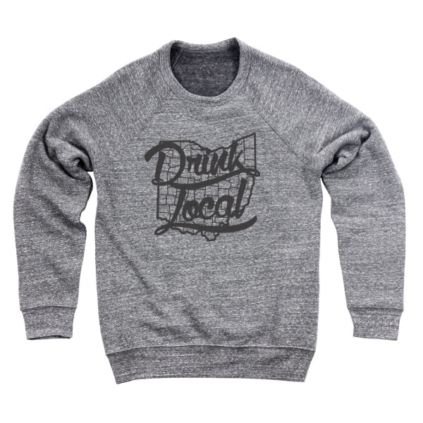Drink Local Ohio Men's Ultra Soft Sweatshirt - Clothe Ohio - Soft Ohio Shirts