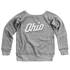 Ohio Vintage Sport Women's Off-Shoulder Sweatshirt