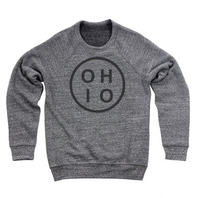 Ohio Circle Black Ultra Soft Sweatshirt - Clothe Ohio - Soft Ohio Shirts