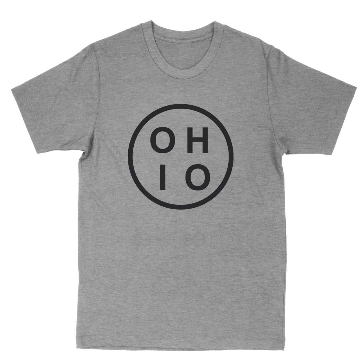 Ohio Circle Black Men's T-Shirt - Clothe Ohio - Soft Ohio Shirts