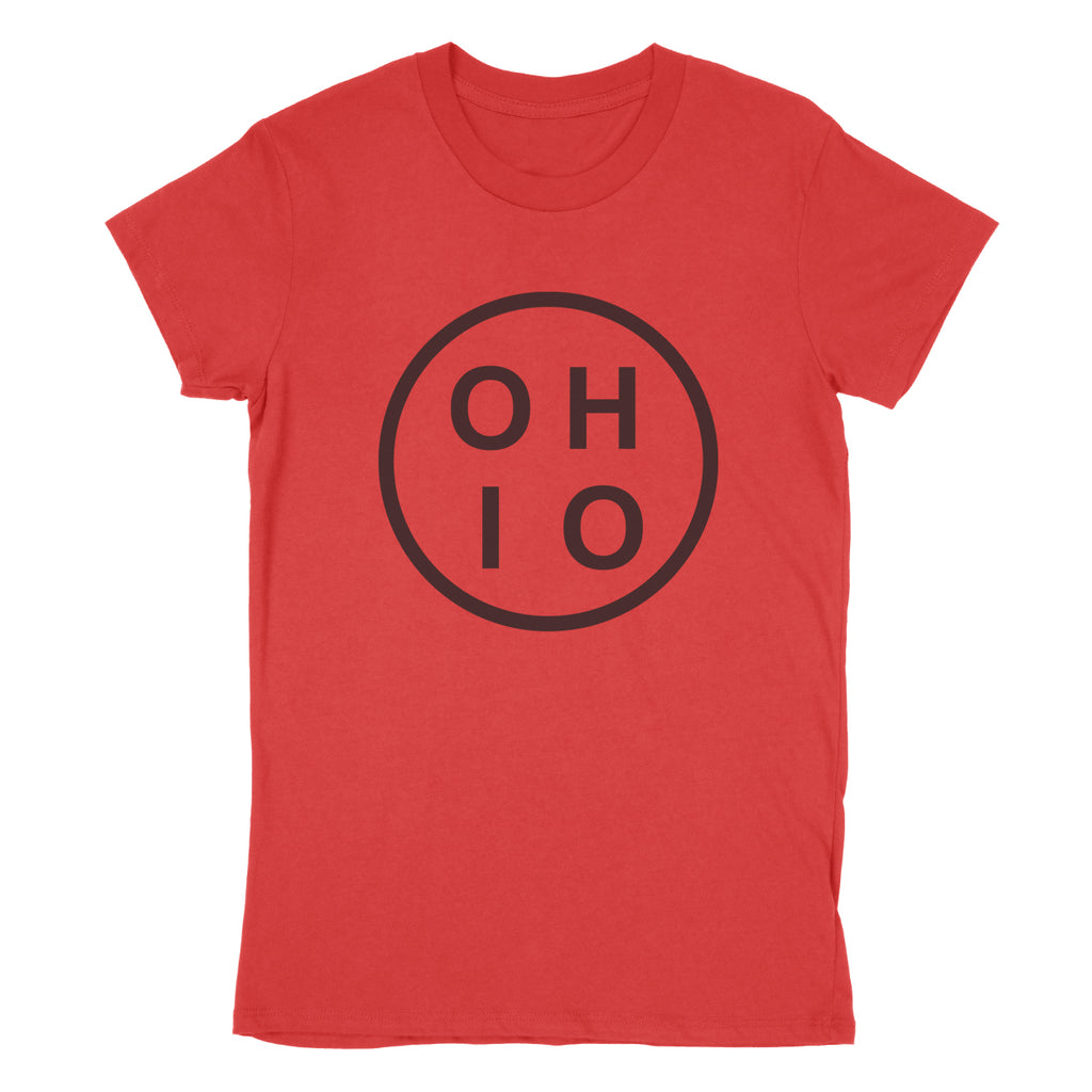 Ohio Circle Black Women's T-Shirt - Clothe Ohio - Soft Ohio Shirts