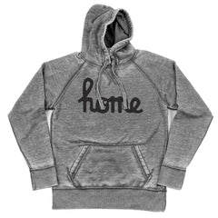 Home Ohio Script Black Shredded Hoodie