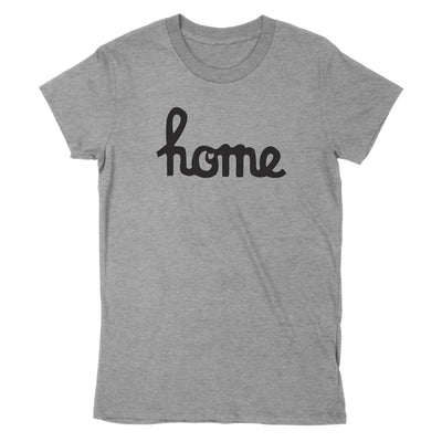 Home Ohio Script Black Women's T-Shirt - Clothe Ohio - Soft Ohio Shirts