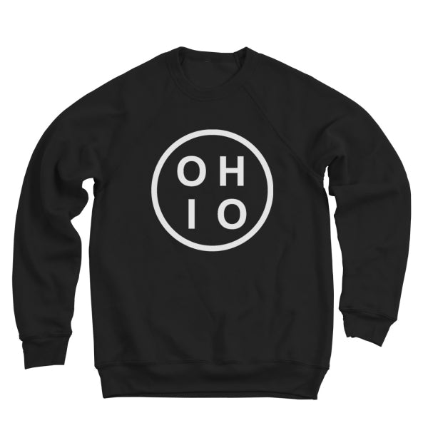 Ohio Circle White Ultra Soft Sweatshirt - Clothe Ohio - Soft Ohio Shirts