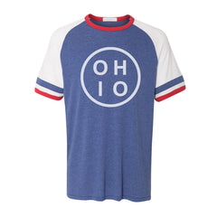 Circle Ohio Stripes Ringer T-shirt