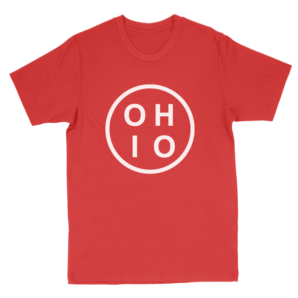 Ohio Circle White Men's T-Shirt - Clothe Ohio - Soft Ohio Shirts