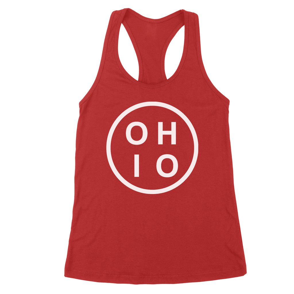 Ohio Circle White Women's Tank - Clothe Ohio - Soft Ohio Shirts