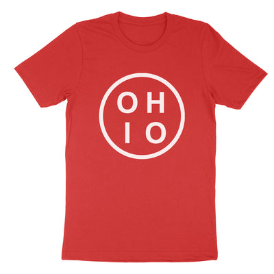 Ohio Circle White Youth T-Shirt - Clothe Ohio - Soft Ohio Shirts