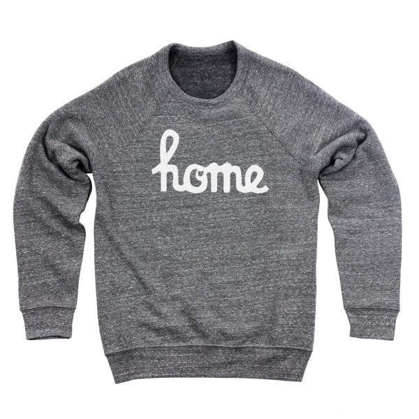 Home Ohio Script White Men's Ultra Soft Sweatshirt - Clothe Ohio - Soft Ohio Shirts