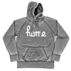 Home Ohio Script White Shredded Hoodie