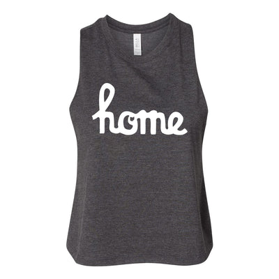 Home Ohio Script Women's Racerback Cropped Tank