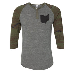 Ohio Black Button Henley