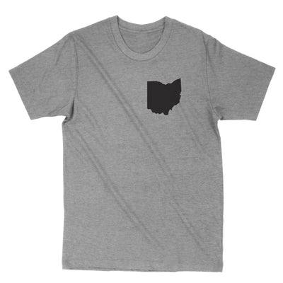 Ohio Pocket Print Black Men's T-Shirt - Clothe Ohio - Soft Ohio Shirts