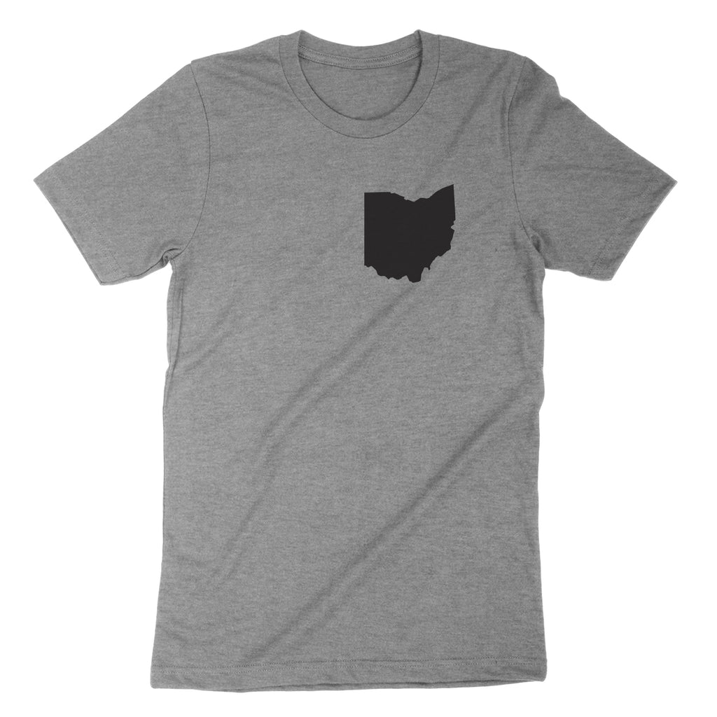 Ohio Pocket Print Black Youth T-Shirt - Clothe Ohio - Soft Ohio Shirts