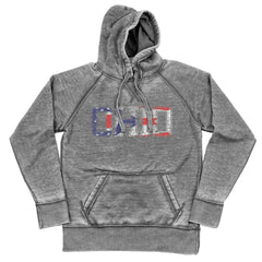 Ohio State Flag Print Shredded Hoodie
