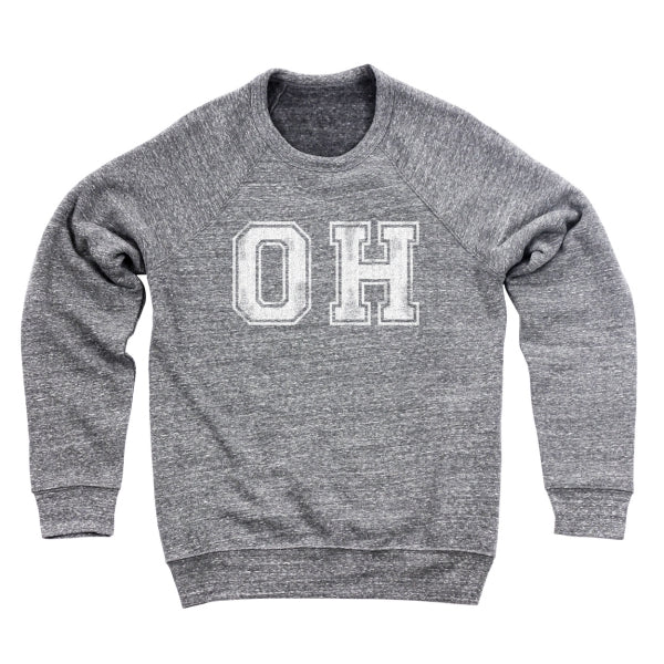 Oh Distressed Men's Ultra Soft Sweatshirt - Clothe Ohio - Soft Ohio Shirts