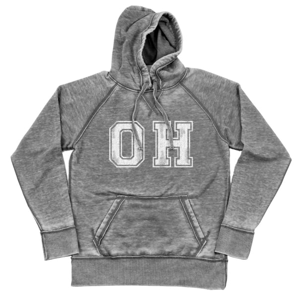 Oh Distressed Shredded Hoodie - Clothe Ohio - Soft Ohio Shirts