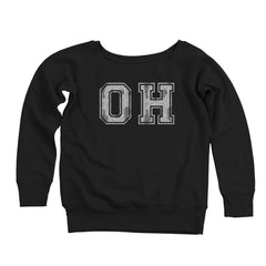 Oh Distressed Women's Off-Shoulder Sweatshirt