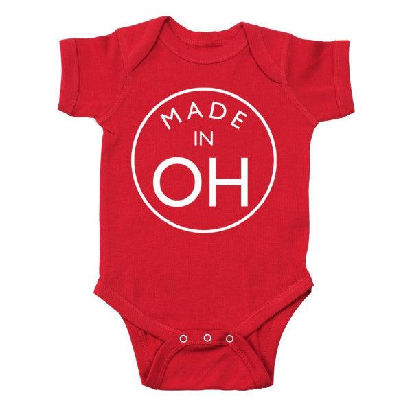 Baby Made In Oh Baby One Piece - Clothe Ohio - Soft Ohio Shirts