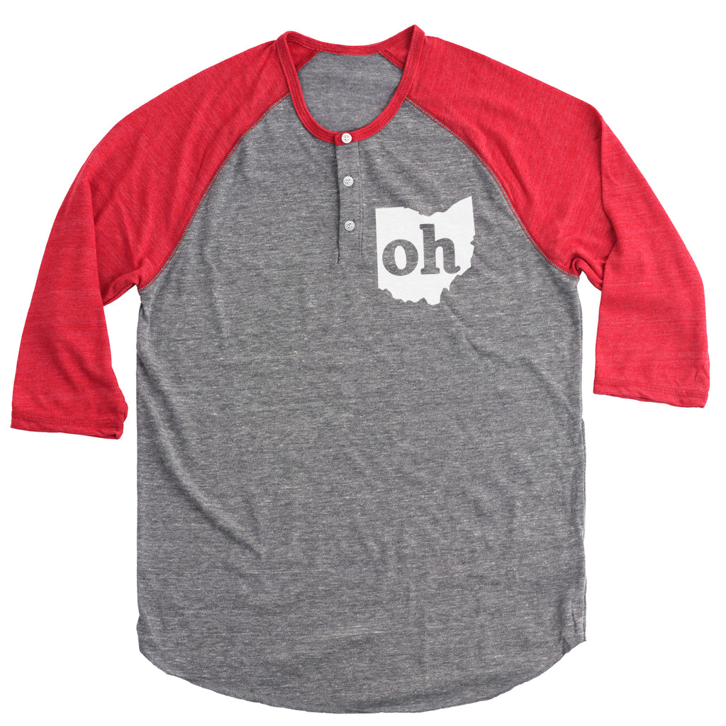 Oh Ohio Couples Outfit Button Henley - Clothe Ohio - Soft Ohio Shirts