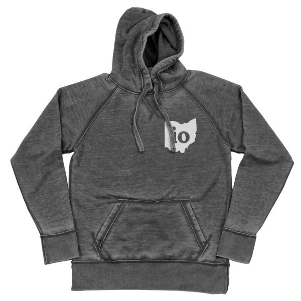Io Ohio Couples Outfit Shredded Hoodie - Clothe Ohio - Soft Ohio Shirts