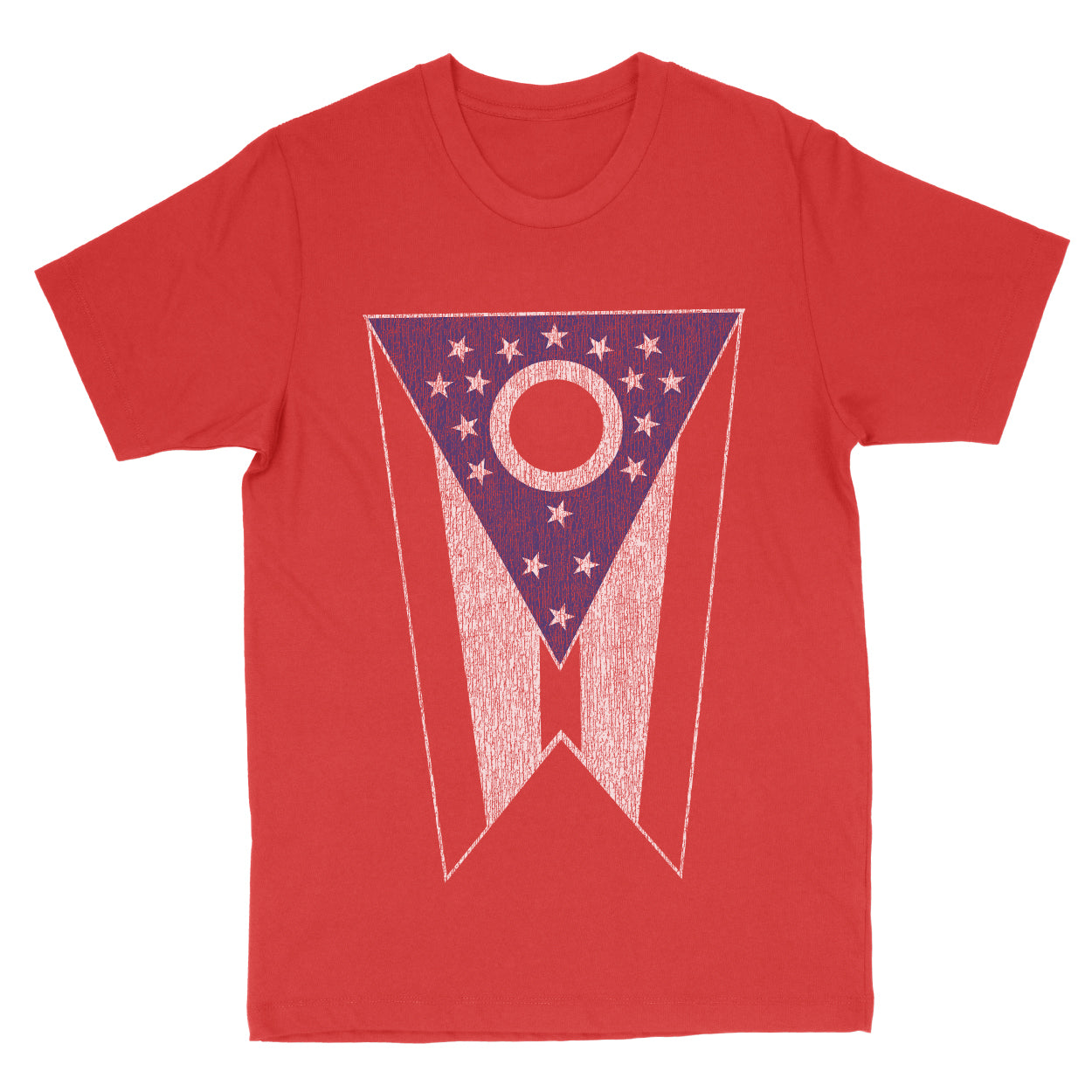 Ohio State Flag Big Men's T-Shirt - Clothe Ohio - Soft Ohio Shirts