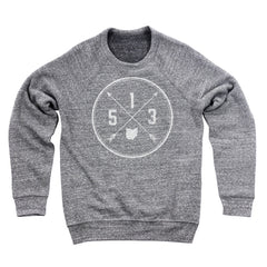 513 Area Code Cross Ultra Soft Sweatshirt