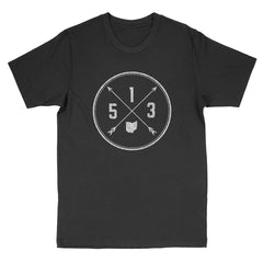 513 Area Code Cross Men's T-Shirt