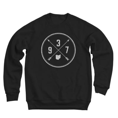 937 Area Code Cross Ultra Soft Sweatshirt - Clothe Ohio - Soft Ohio Shirts