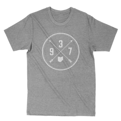 937 Area Code Cross Men's T-Shirt - Clothe Ohio - Soft Ohio Shirts