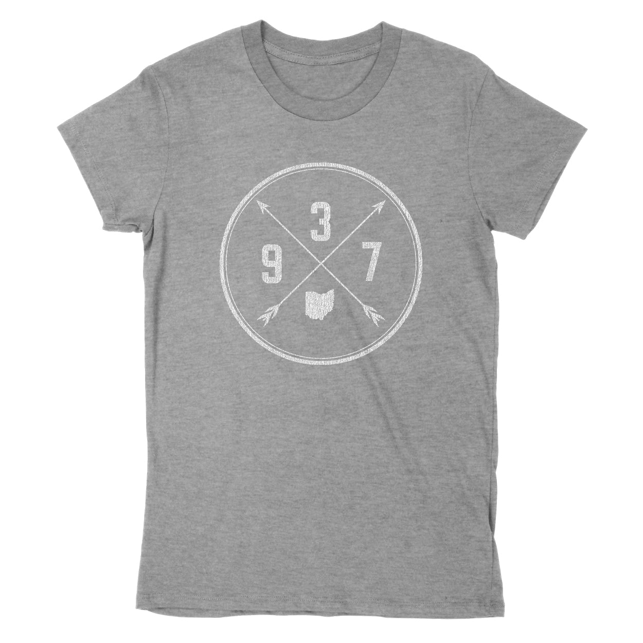 937 Area Code Cross Women's T-Shirt - Clothe Ohio - Soft Ohio Shirts