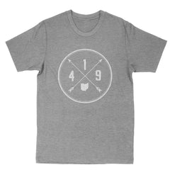 419 Area Code Cross Men's T-Shirt