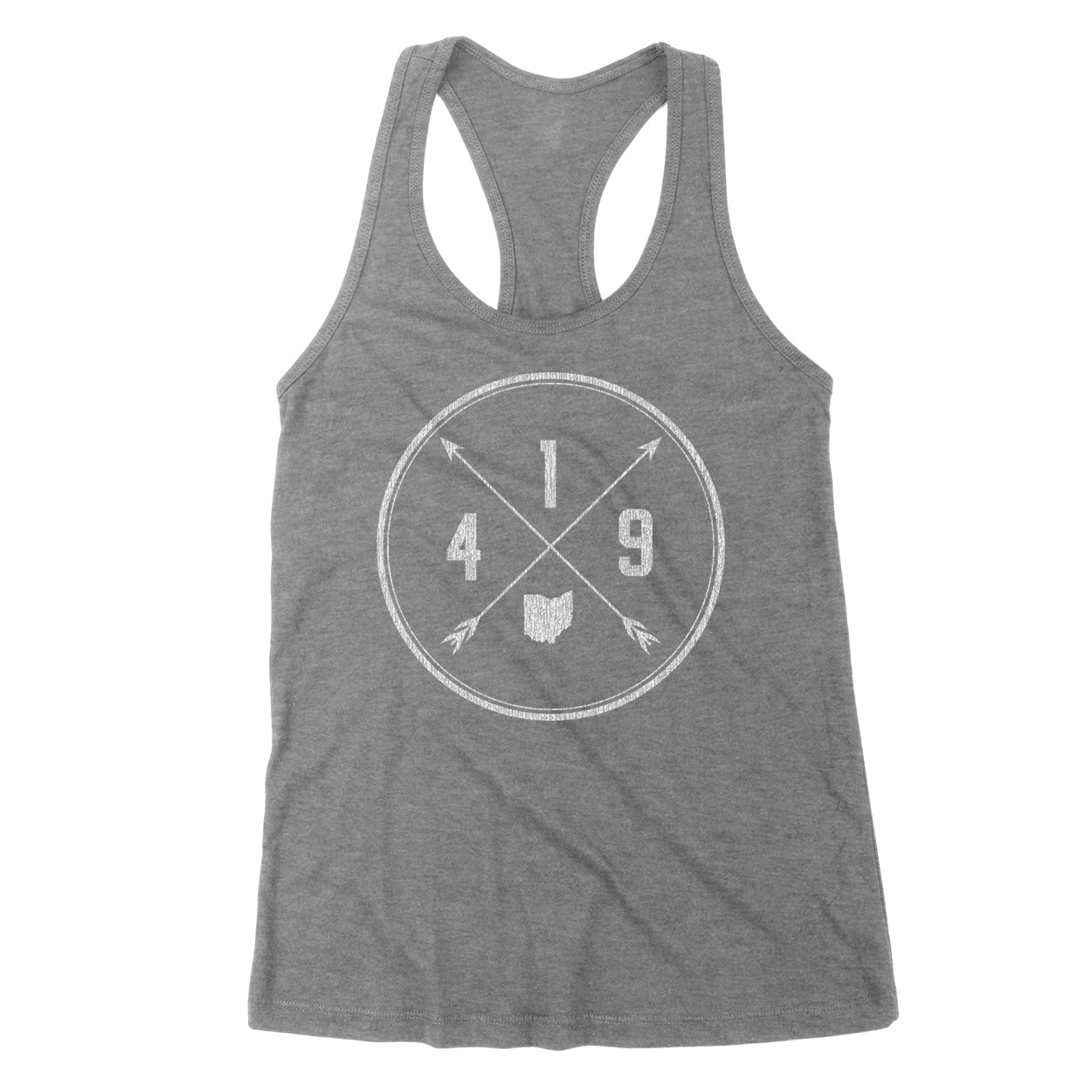 419 Area Code Cross Women's Tank - Clothe Ohio - Soft Ohio Shirts