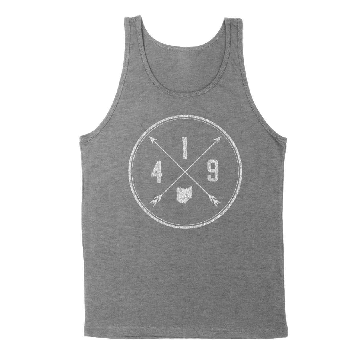 419 Area Code Cross Men's Unisex Tank - Clothe Ohio - Soft Ohio Shirts