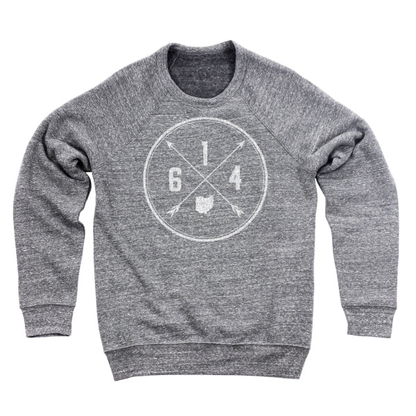 614 Area Code Cross Men's Ultra Soft Sweatshirt - Clothe Ohio - Soft Ohio Shirts