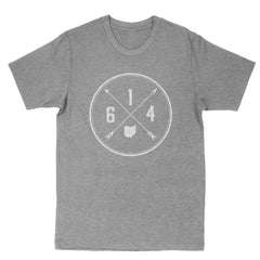 614 Area Code Cross Men's T-Shirt