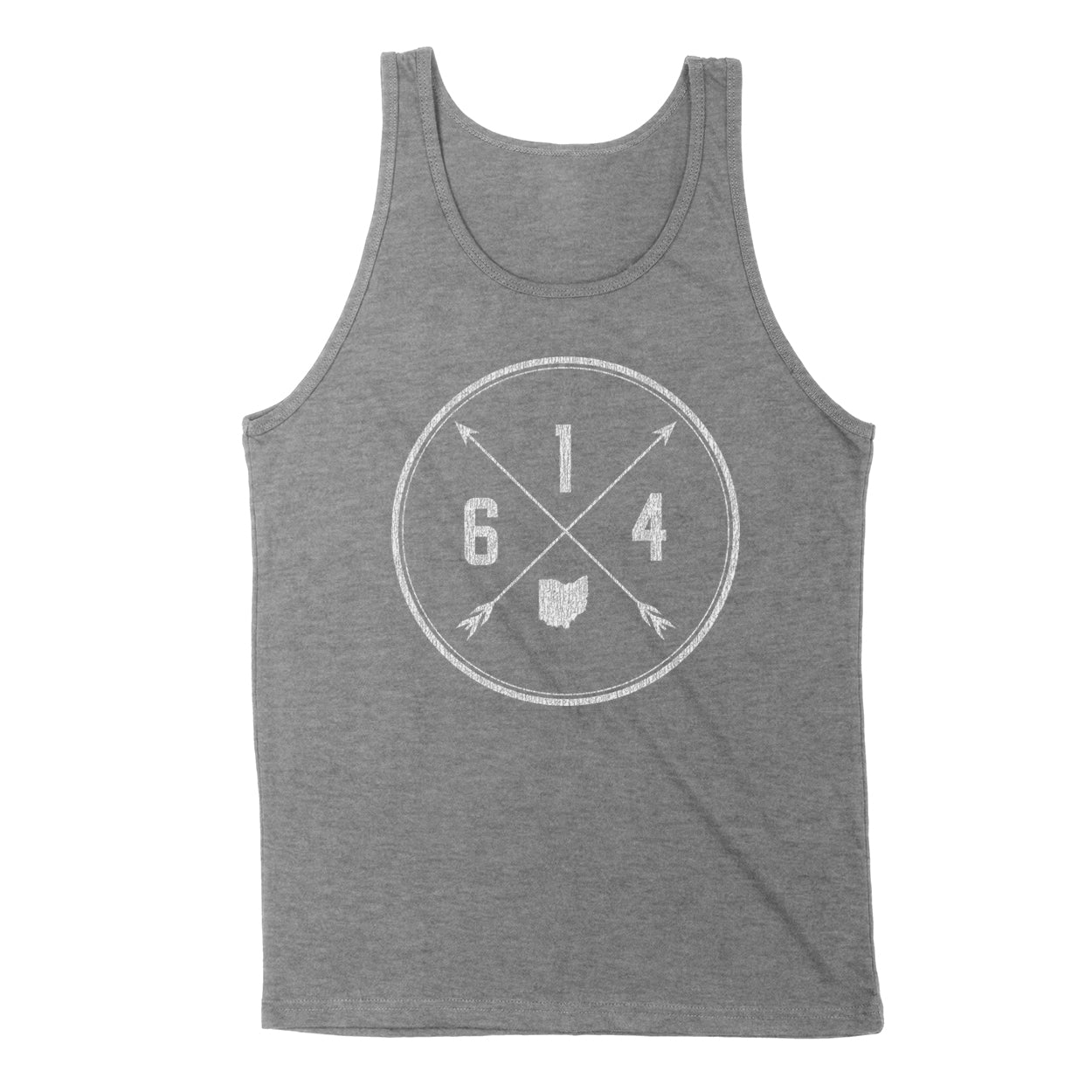 614 Area Code Cross Men's Unisex Tank - Clothe Ohio - Soft Ohio Shirts