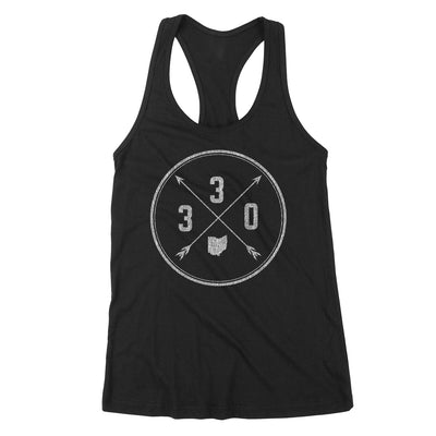330 Area Code Cross Women's Tank - Clothe Ohio - Soft Ohio Shirts