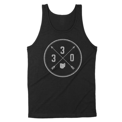 330 Area Code Cross Men's Unisex Tank - Clothe Ohio - Soft Ohio Shirts