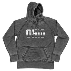 Ohio Stars And Stripes (White) Shredded Hoodie