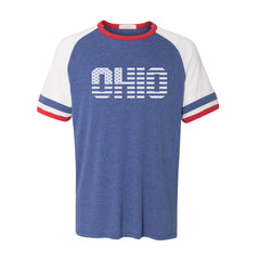 Ohio Stars And Stripes (White) Ringer Jersey