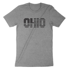 Ohio Stars And Stripes Black Youth T-Shirt